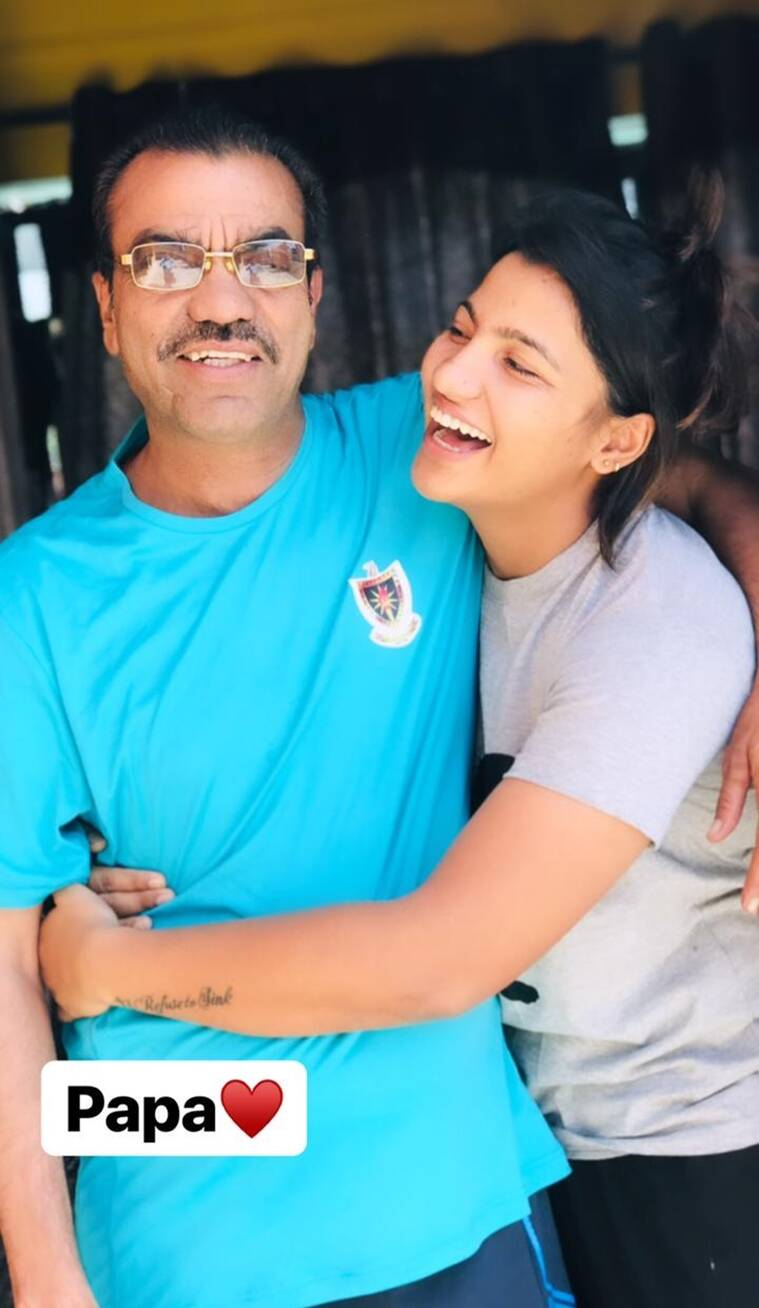 SNEH RANA WITH HER LATE FATHER